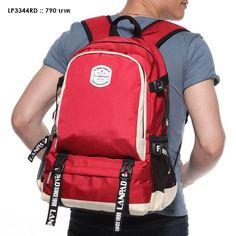 กระเป๋าเป้หลัง กระเป๋าคอมพิวเตอร์ สีสดใส รุ่น LP3344