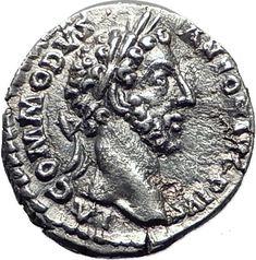Commodus son of Marcus Aurelius 177AD Silver Ancient Roman Coin Minerva i65080