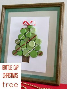 the bottle cap Christmas tree ... from @theCraftBlog