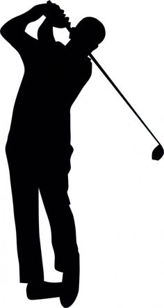 Golfing Silhouette - 16 : Custom Wall Decals, Wall Decal Art, and Wall Decal Murals | WallMonkeys.com