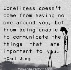 It is also being unable to communicate to those friends who are important to you as well