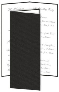 DIY Slim Wedding Program - Textured Ebony, 25 pack * You can find out more details at the link of the image.