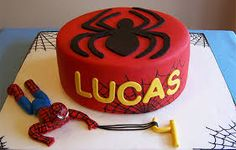 Image result for spiderman birthday cakes