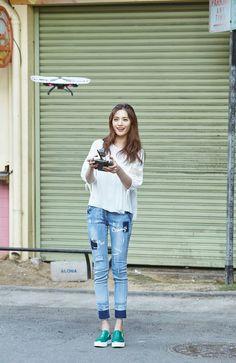 Nana for Si Apparel Korean Girl Fashion, Tomboy Fashion, Nana Afterschool, Im Jin Ah Nana, Teen Girl Photography, Most Beautiful Faces, Asian Beauty, Supermodels, Cute Girls