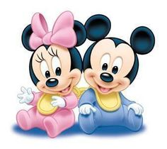 minnie et mickey baby Baby Mickey Mouse, Mickey Mouse Y Amigos, Mickey Mouse And Friends, Minnie Mouse Party, Disney Mickey, Disney Art, Walt Disney, Mikey Mouse, Image Minnie