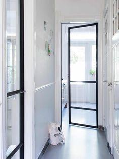3-glazen-deur House Elements, Interior, Interior Inspiration, Home, Glass Door, House Interior, New Kitchen Doors, Interor Design, Door Dividers