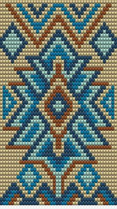 bead weaving patterns for beginners Tapestry Crochet Patterns, Bead Loom Patterns, Peyote Patterns, Weaving Patterns, Knitting Patterns, Jewelry Patterns, Color Patterns, Cross Stitch Pattern Maker, Cross Stitch Patterns