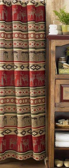 adirondack home decor  | Rustic Decor | Adirondack Shower Curtains