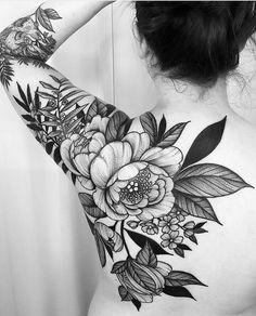 Black Flower Tattoos - Best Flower Tattoos For Women: Cute Floral Tattoo Designs. Black Flower Tattoos - Best Flower Tattoos For Women: Cute Floral Tattoo Designs and Ideas For Girls - Arm, Sleeve, Lotusblume Tattoo, Backpiece Tattoo, Tattoo Style, Cover Tattoo, True Tattoo, Self Harm Cover Up Tattoo, Mandala Tattoo, Tattoo Fonts, Big Tattoo