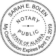 Alaska Notary rubber stamp.