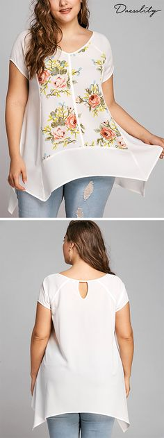 Buy the latest plus size t shirts for women at cheap prices,best plus size blouses at Dresslily.com.#plussize#tshirts