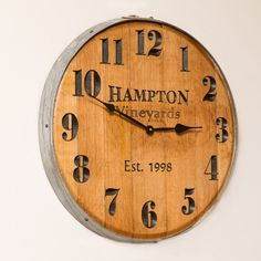 Wine Barrel Clock - Personalized
