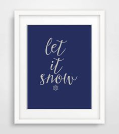 Let It Snow Printable Christmas Art Print Winter by Designsbyritz