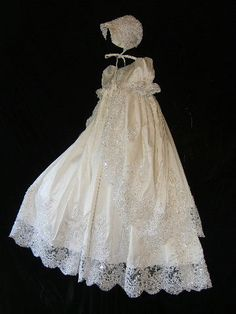 Angela West Christening gown set ORIANA II by angelawesthgowns, $498.00