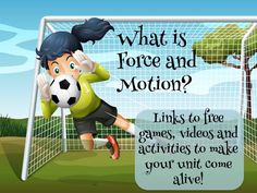 """If you need a unit to grab those reluctant learners and """"Power"""" them up, you can't do better than force and motion! It's filled with experiments, plus lots of movement and action. It's everything kids could want! Get links to everything you need on this post!"""