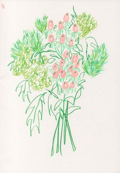 I am addicted to going to the florist. I can't stop. Also I found a pink colored pencil today.