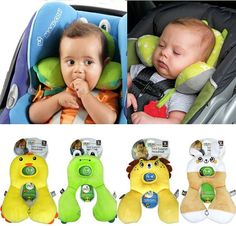 Baby Kid Toddler Infant Car Booster Seat Stroller Travel Neck Saver Positioner Protector Head rest Support Cartoon Animal Pillow on Etsy, $21.99