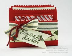 Christmas Mini Treat Bag Wallet for Control Freaks Blog Tour November 2015 Holiday projects by Dawn Olchefske #dostamping #stampinup