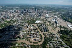Extreme Flooding Hits Alberta --   A flooded Calgary in seen from the air on Saturday June 22, 2013