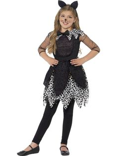 girls deluxe midnight cat costume