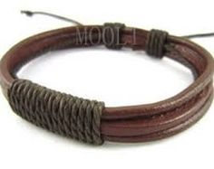 diy mens leather bracelet - Google Search