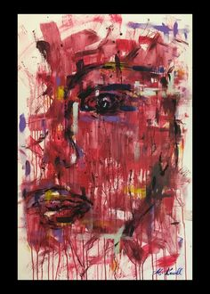 RED RAIN  Size: 80×120 Material: Acrylic on Canvas Technique: Brush / Hand