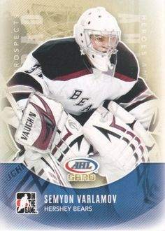 2011-12 ITG Heroes and Prospects Hockey #175 Semyon Varlamov AG Hershey Bears Trading Card by ITG Heroes and Prospects. $1.99. 2011 In the Game trading card in near mint/mint condition, authenticated by Seller