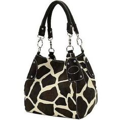 Black Large Vicky Giraffe Print Faux Leather Satchel Bag Handbag Purse --- http://www.pinterest.com.mnn.co/x3