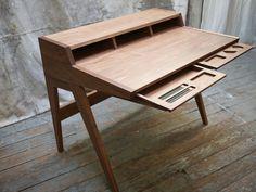Laura Desk - A beautiful, modern, functional, custom creation by Phloem Studio, located in Portland, Oregon