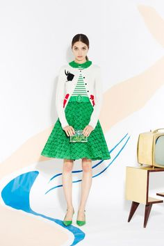 Alice + Olivia Spring 2013 // The cutest sweater skirt combo!