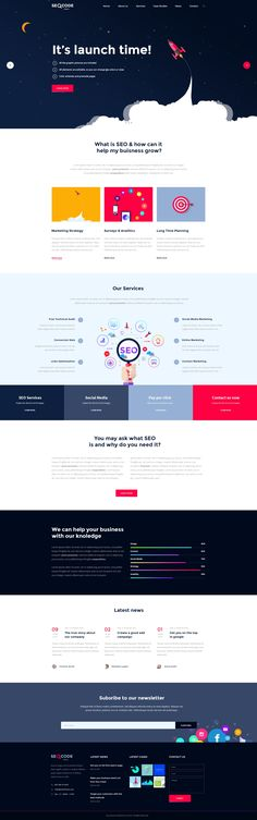 SeoCode - The Ultimate SEO & Online Marketing PSD Template Design by milodesigns