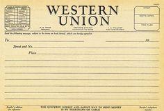 1930s Western Union telegram blank by B-Kay, via Flickr
