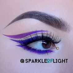 Violet, Mauve and Blue heavy_check_mark Hi y'all! Today I'm back with another bright graphic liner! Hope you like it! Love kissing_smiling_eyes #sparkleoflight sparklesFollow Me For New Uploads!sparkles Products used: white_small_square Motives Cosmetics - Little Black Dress Eye-liner white_small_square Motives Cosmetics - Khôl Eyeliner • Angel, Onyx white_small_square Urban Decay - Naked Palette and Electric Palette white_small_square Makeup Addiction