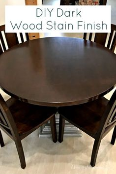 Easy to Do DIY Steps and Video - How to Stain a Table Top with a dark wood stain finish. Uses 3 easy to apply products for this professional looking finish. wood stain How To Stain A Table Top - Get a Professional Finish - Abbotts At Home