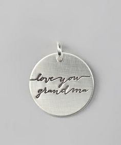 Sterling Silver Expressions 'Love You Grandma' Charm