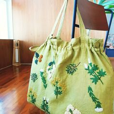 #히구치유미코 가방완성 #spring mood bag #전시회득템 #데일리템 예정 #higuchi yumiko#yumikohiguchi #실물깡패#프랑스자수#embroidery