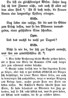 "Extract from ""Dido"", a drama written by Charlotte von Stein. The main storyline is ruler Dido being aggressed by men for the sole reason of being a woman. Any parallels with real people like Duchess Anna Amalia and Earl Goertz are most probably intended. (more about Goethe s friend s plays on ""Kainsmal Goethe Extra"")"