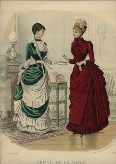 ORIGINAL REVUE DE LA MODE Feb 24 ,1884