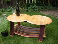 Wine barrel coffee tables - Fletchers Furniture