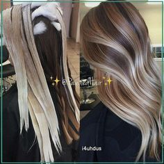 Silver Blonde Hair, Balayage Hair Blonde, Balayage Highlights, Hair Painting Highlights, Blonde Highlights On Dark Hair All Over, Brown Blonde, Dark Brown, Ombre Hair Color, Cool Hair Color