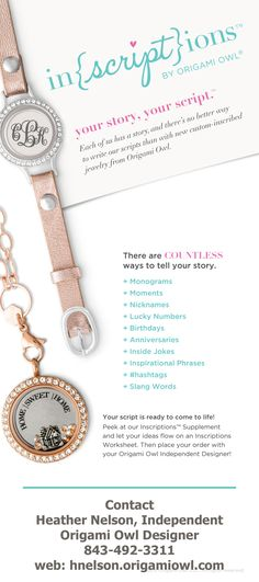 Get your Origami Owl Locket inscribed! Monogrammed and even more personal gifts. Oh the possibilities!