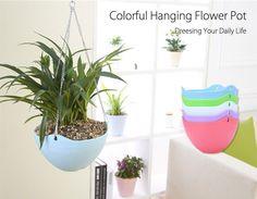 5pcs Basket Flower Plant Holder Hanging Flower Pot Chain Planter Indoor Outdoor  #Unbranded
