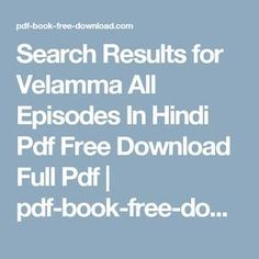 Kirtu Velamma Hindi Pdf