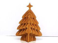 Christmas Tree, ornament,wood,3D, handmade with scroll saw
