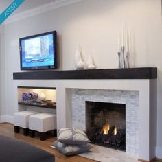 inside a decatur home - Raenovate (pic's of in-process while renovating this fireplace)
