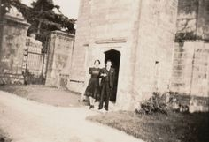 1930s - Outside the Lodge House, Ashburnham Place