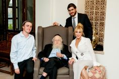 Diane Faith honored to be with the famous Rabbi Adin Steinsaltz. Also with Jacob Lille and Rabbi Allouche