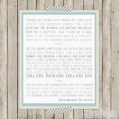 INSTANT DOWNLOAD Poem Song for a Fifth Child by by TheMeekBoutique, $5.00