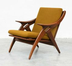 Dutch teak chair by De Ster. #Sculpture #chair #design #dutchbeauty #furniture