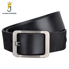 FAJARINA High Quality Men's Retro Brand Fashion Genuine Leather Men Pin Buckle Belts for Men Leather Belt 38mm Width NW0029